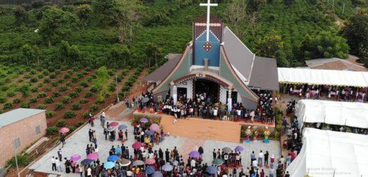 Thánh Lễ Làm Phép Nhà Thờ Đăk Tăng Giáo phận Kon Tum 31-08-2019