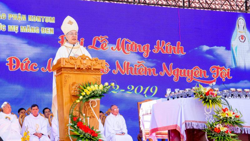 Giáo Phận Kon Tum: Thánh Lễ Mừng Kính Đức Mẹ Sầu Bi Măng Đen 2019
