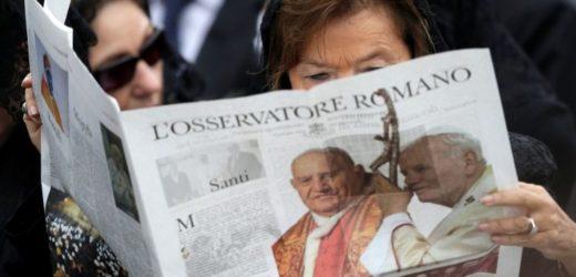 Vì Dịch Virus Corona, Báo Quan Sát Viên Roma Của Tòa Thánh Tạm Ngưng Phát Hành Giấy