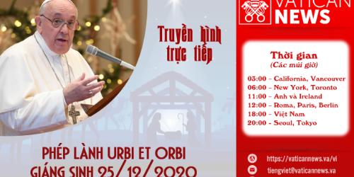 Trực Tiếp Phép Lành Urbi Et Orbi Giáng Sinh 2020