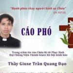 Bí Mật Ước Mơ Của Thầy Chủng Sinh Giuse Trần Quang Đạo Hai Năm Trước Khi Qua Đời