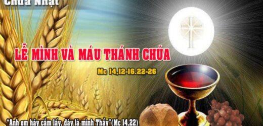 Dẫn Lễ Và Lời Nguyện (06.06.2021 – Chúa Nhật X Thường Niên – Lễ Mình Và Máu Thánh Chúa Kitô–Năm B)