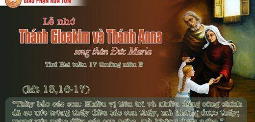Mong Ước (26-7-2021 – Thứ Hai Tuần 17 TN – Lễ Thánh Gioakim và Anna)