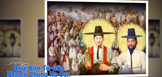 Thánh Anrê Kim Tê-gôn, Phaolô Chung Ha-San Và Các Bạn Tử Đạo (Ngày 20/9)